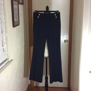 Pants - VESTI. Black pants polyester stretch fabric